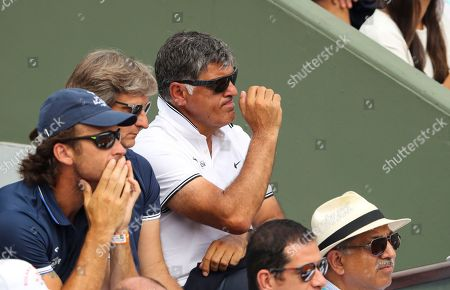 Stock Photo of Toni Nadal looks on during the men's singles final