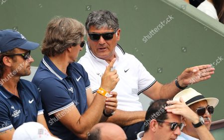 Toni Nadal looks on during the men's singles final