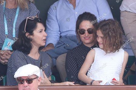 Zabou Breitman, Marie Gillain with daughter and husband Christophe Degli Esposti