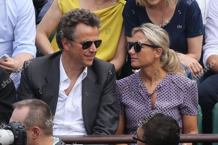Anne-Sophie Lapix and her husband Arthur Sadoun
