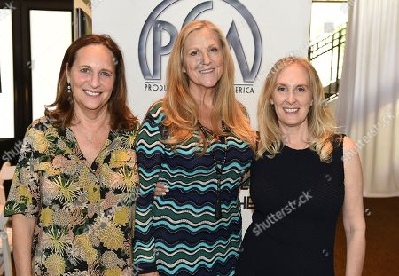 Lucy Fisher, Lori McCreary, Susan Sprung. From left, Lucy Fisher, Lori McCreary and Susan Sprung attend the second day of the 10th Annual Produced By Conference at Paramount Pictures on in Los Angeles