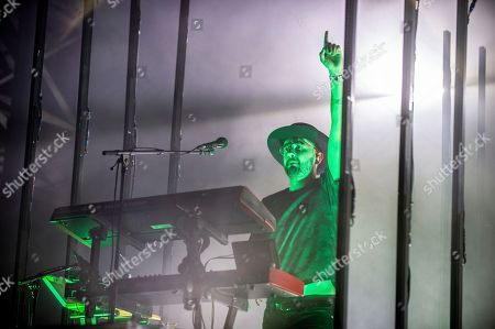 Gus Unger-Hamilton of alt-J performs at the Bonnaroo Music and Arts Festival, in Manchester, Tenn