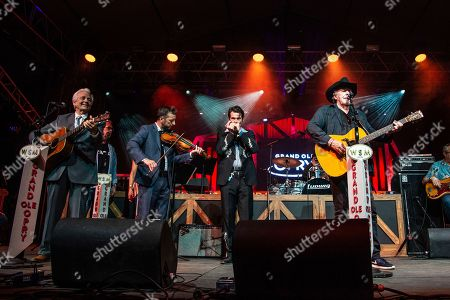 Del McCoury, Bobby Bare. Del McCoury, left, and Bobby Bare perform during the Grand Ole Opry at the Bonnaroo Music and Arts Festival, in Manchester, Tenn