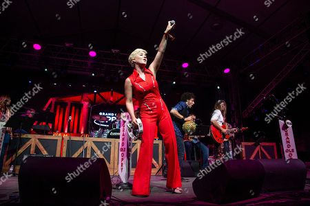 Maggie Rose performs during the Grand Ole Opry at the Bonnaroo Music and Arts Festival, in Manchester, Tenn
