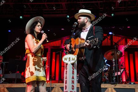 Nikki Lane, Joshua Hedley. Nikki Lane, left, and Joshua Hedley perform during the Grand Ole Opry at the Bonnaroo Music and Arts Festival, in Manchester, Tenn