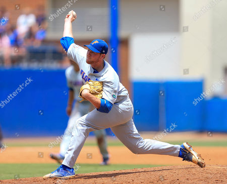 Florida pitcher Michael Byrne throws against Auburn during an NCAA Super Regional college baseball game, in Gainesville, Fla