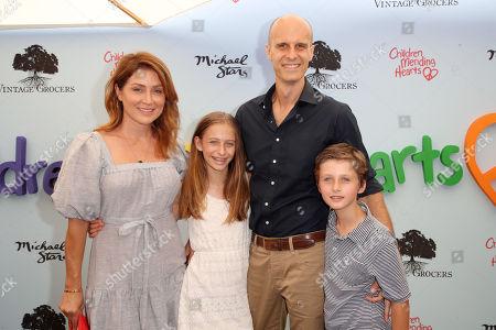 Sasha Alexander, Edoardo Ponti with children