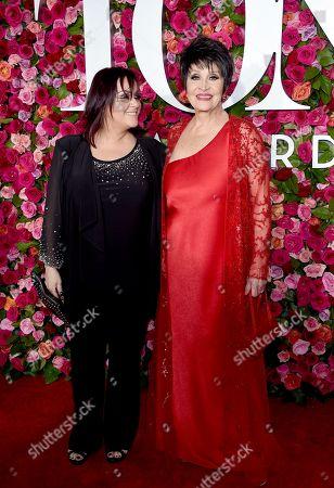 Stock Image of Chita Rivera, Lisa Mordente. Lisa Mordente, left, and Chita Rivera arrive at the 72nd annual Tony Awards at Radio City Music Hall, in New York