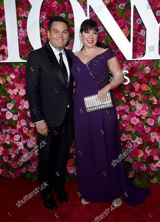 Robert Lopez, Kristen Anderson-Lopez. Robert Lopez, left, and Kristen Anderson-Lopez arrive at the 72nd annual Tony Awards at Radio City Music Hall, in New York