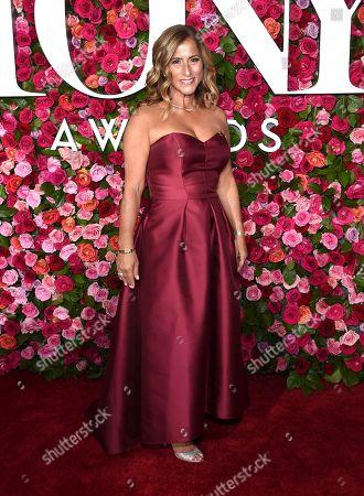 Melody Herzfeld, drama teacher from Marjory Stoneman Douglas High School, arrives at the 72nd annual Tony Awards at Radio City Music Hall, in New York