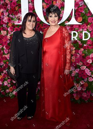 Stock Picture of Lisa Mordente, Chita Rivera. Lisa Mordente, left, and Chita Rivera arrive at the 72nd annual Tony Awards at Radio City Music Hall, in New York