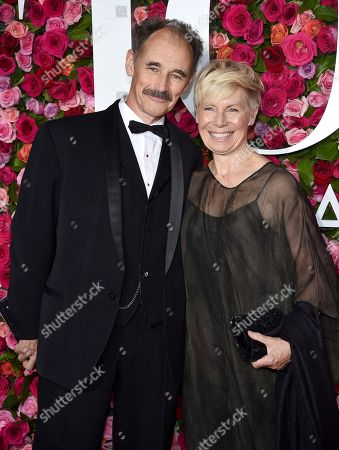 Mark Rylance, Claire van Kampen. Mark Rylance, left, and Claire van Kampen arrive at the 72nd annual Tony Awards at Radio City Music Hall, in New York