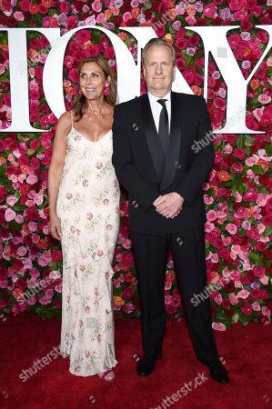Kathleen Rosemary Treado, Jeff Daniels. Kathleen Rosemary Treado, left, and Jeff Daniels arrive at the 72nd annual Tony Awards at Radio City Music Hall, in New York