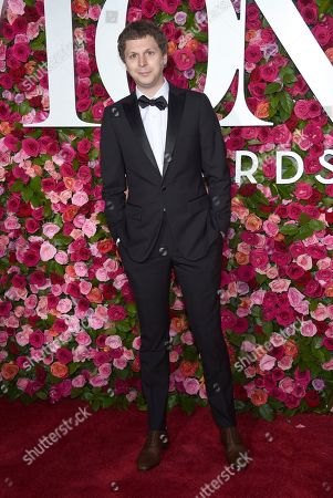 Michael Cera arrives at the 72nd annual Tony Awards at Radio City Music Hall, in New York