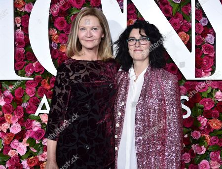 Stock Image of Joan Allen, Tina Landau. Joan Allen, left, and Tina Landau arrive at the 72nd annual Tony Awards at Radio City Music Hall, in New York
