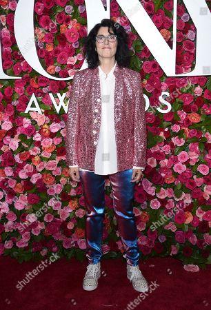 Tina Landau arrives at the 72nd annual Tony Awards at Radio City Music Hall, in New York