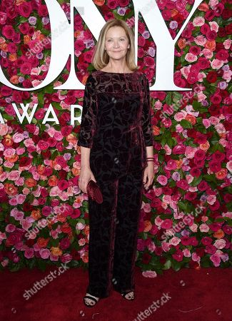 Joan Allen arrives at the 72nd annual Tony Awards at Radio City Music Hall, in New York