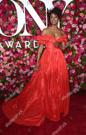 Condola Rashad arrives at the 72nd annual Tony Awards at Radio City Music Hall, in New York
