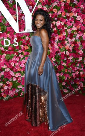 LaChanze arrives at the 72nd annual Tony Awards at Radio City Music Hall, in New York