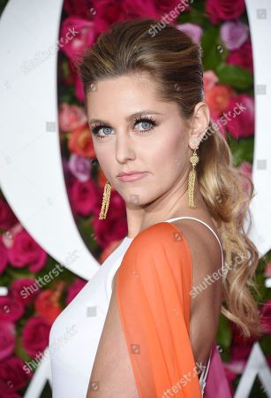 Taylor Louderman arrives at the 72nd annual Tony Awards at Radio City Music Hall, in New York