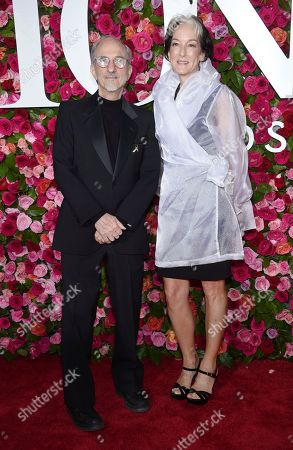 Stock Image of Jules Fisher, Peggy Eisenhauer. Jules Fisher, left, and Peggy Eisenhauer arrive at the 72nd annual Tony Awards at Radio City Music Hall, in New York