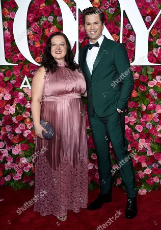 Stock Picture of Zuzanna Szadkowski, Andrew Rannells. Zuzanna Szadkowski, left, and Andrew Rannells arrive at the 72nd annual Tony Awards at Radio City Music Hall, in New York