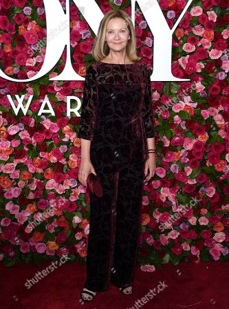 Stock Photo of Joan Allen arrives at the 72nd annual Tony Awards at Radio City Music Hall, in New York