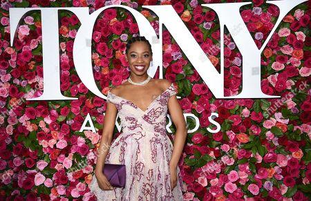 Hailey Kilgore arrives at the 72nd annual Tony Awards at Radio City Music Hall, in New York