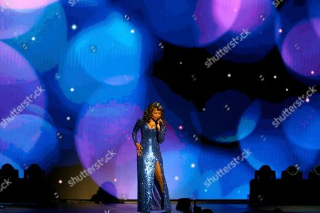 """LaChanze, of the cast of """"Summer: The Donna Summer Musical,"""" performs at the 72nd annual Tony Awards at Radio City Music Hall, in New York"""