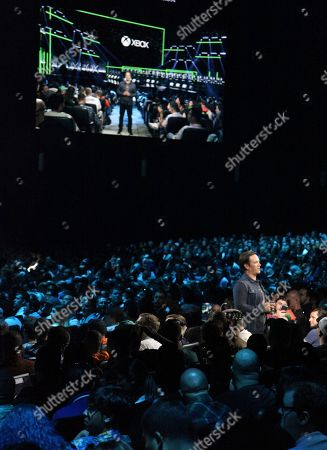 Phil Spencer, Head of Gaming at Microsoft, speaks to gamers at Xbox E3 2018 Briefing at Microsoft Theater on in Los Angeles