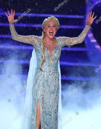 """Caissie Levy, from the cast of """"Frozen"""" performs at the 72nd annual Tony Awards at Radio City Music Hall, in New York"""