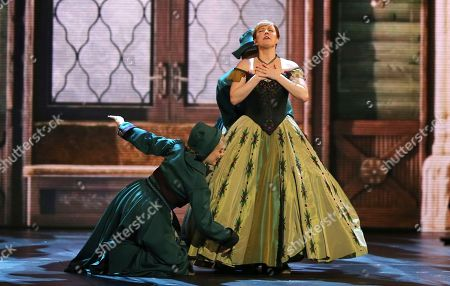 """Patti Murin, from the cast of """"Frozen,"""" performs at the 72nd annual Tony Awards at Radio City Music Hall, in New York"""