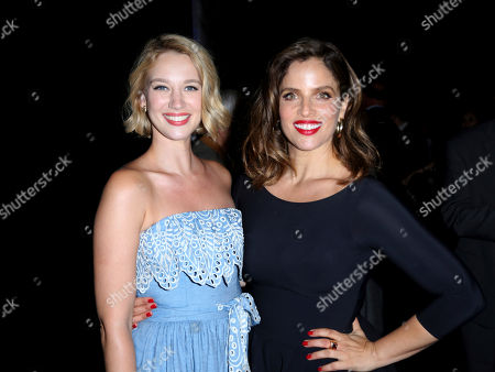 Yael Grobglas, Noa Tishby. Yael Grobglas, left, and Noa Tishby attend the Israeli Consulate in LA event to Celebrate the 70th Anniversary of Israel at Universal Studios, in Los Angeles