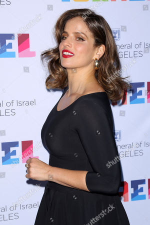 Noa Tishby arrives at the Israeli Consulate in LA event to Celebrate the 70th Anniversary of Israel at Universal Studios, in Los Angeles