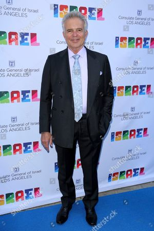 Tony Denison arrives at the Israeli Consulate in LA event to Celebrate the 70th Anniversary of Israel at Universal Studios, in Los Angeles