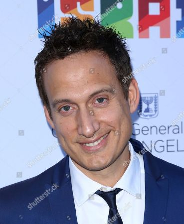 Elon Gold arrives at the Israeli Consulate in LA event to Celebrate the 70th Anniversary of Israel at Universal Studios, in Los Angeles