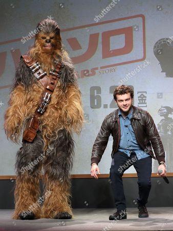 Chewbacca and Alden Ehrenreich