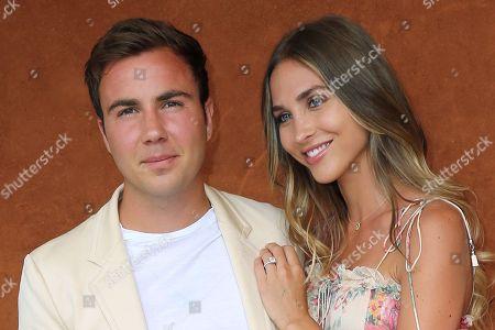 Mario Gotze and his fiancee Ann-Kathrin Brommel