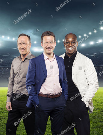 (l-r) Lee Dixon, Mark Pougatch and Ian Wright.