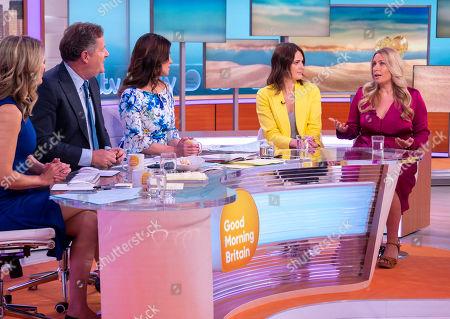 Charlotte Hawkins, Piers Morgan, Susanna Reid with Elizabeth Day and Kate Mansfield