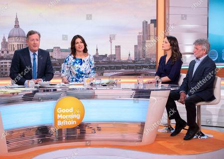 Stock Image of Piers Morgan, Susanna Reid with Nicola Thorp and Neil Wallis