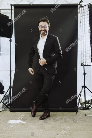 Stock Picture of Tunisian director Mohamed Ben Attia at the Arte Boat on the Croisette, Cannes