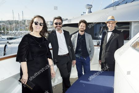 Tunisian director Mohamed Ben Attia at the Arte Boat on the Croisette, Cannes
