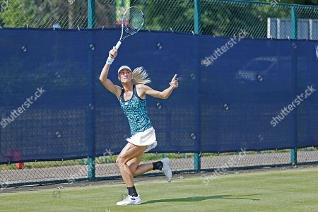 Denisa Allertova (CZE) in action during her Women's Singles First Round match against Kristie Ahn (USA) at the 2018 Nature Valley Open at Nottingham Tennis Centre, Nottingham. Picture by Katy Blackwood