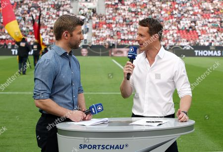 Stock Picture of Thoas Hitzlsperger and Alexander Bommes