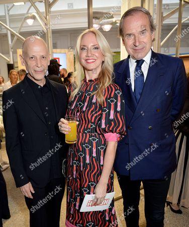 Adrian Joffe, Rosie Nixon and Simon de Pury