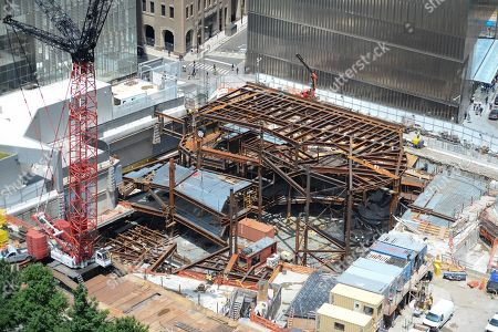 Construction of the Ronald O. Perelman Performing Arts Center at the World Trade Center.