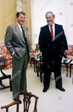 Robert Bork, Ronald Reagan. In this photo provided by the White House, President Ronald Reagan talks with Supreme Court nominee Robert Bork in the residence of the White House in Washington, . Bork said Friday that he will not withdraw his nomination to the Supreme Court