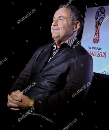 Andr's Cantor. Argentine sportscaster and legendary Telemundo soccer broadcaster Andres Cantor smiles during an interview about his 2018 World Cup assignment, in New York. Getting ready to broadcast its first World Cup, Telemundo hopes Cantor can persuade American viewers that soccer is better in Spanish