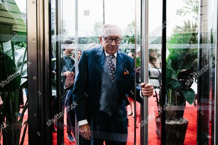 Developer Larry Silverstein walks through the doors of 3 World Trade Center in New York, New York, USA, 11 June 2018. 3 World Trade Center is the fourth out of five buildings to open on the World Trade Center Campus and it will be the second tallest building on the World Trade Center and the fifth tallest in New York City.
